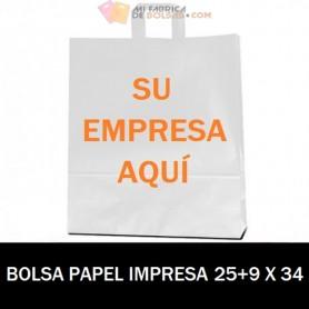 BOLSAS DE PAPEL PERSONALIZADAS 25+9 X 34