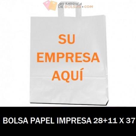 BOLSAS DE PAPEL PERSONALIZADAS 28+11 X 37