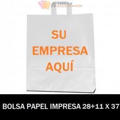 BOLSAS DE PAPEL ASA PLANA PERSONALIZADAS 28+9 X 37