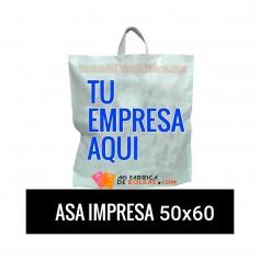 BOLSAS DE PLASTICO ASA LAZO IMPRESAS 50X60 G.200