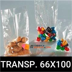 BOLSAS DE PLASTICO TRANSPARENTES 66X100