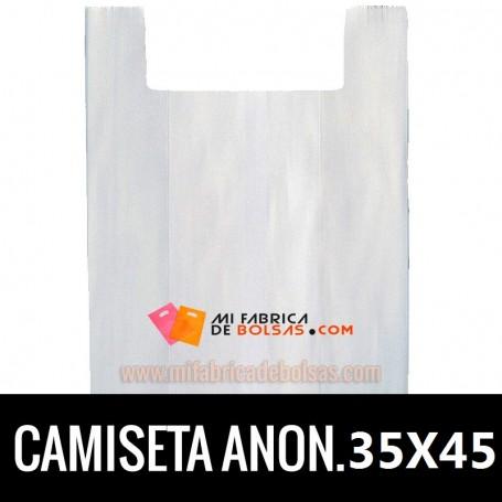 BOLSAS DE PLASTICO ASA CAMISETA ANONIMAS BLANCAS 35X45 GALGA 200