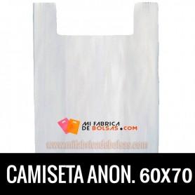 BOLSAS DE PLASTICO ASA CAMISETA ANONIMAS BLANCAS 60X70 GALGA 200
