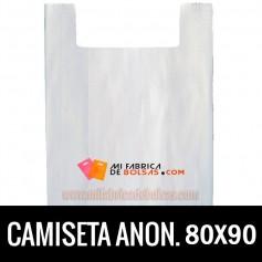 BOLSAS DE PLASTICO ASA CAMISETA ANONIMAS BLANCAS 80X90 GALGA 90