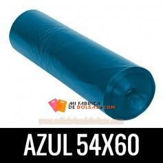 BOLSA DE BASURA AZUL AUTOCIERRE 54x60 15 SERV. G.100
