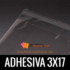 BOLSAS DE PLASTICO SOLAPA ADHESIVA 3X17