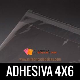BOLSAS DE PLASTICO SOLAPA ADHESIVA 4X6