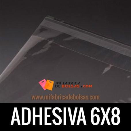 BOLSAS DE PLASTICO SOLAPA ADHESIVA 6X8