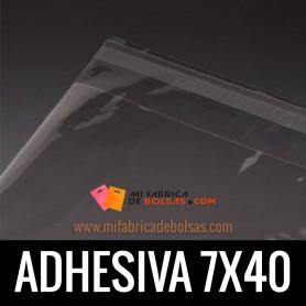 BOLSAS DE PLASTICO CON SOLAPA ADHESIVA 7X40
