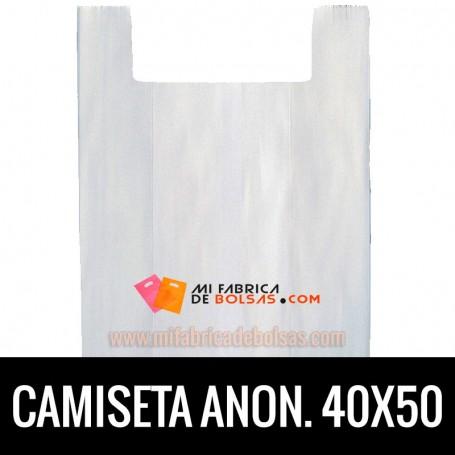 BOLSAS DE PLASTICO ASA CAMISETA ANONIMAS BLANCAS 40X50 GALGA 200