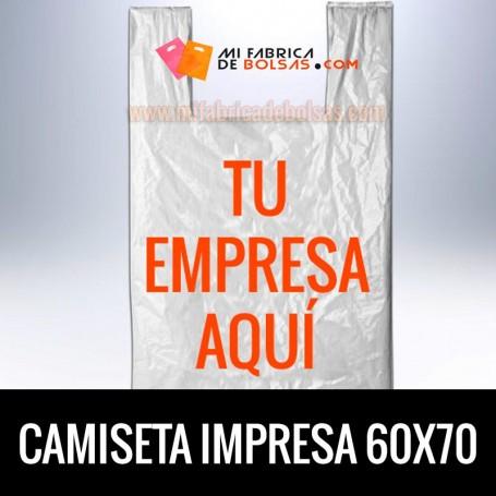 Bolsas de Plastico Asa Camiseta Personalizadas 60x70 Galga 200