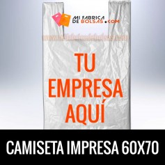 BOLSAS DE PLASTICO CAMISETA IMPRESAS 60x70 G.100