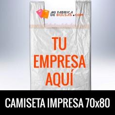 BOLSAS DE PLASTICO CAMISETA IMPRESAS 70x80 G.200