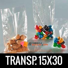 BOLSAS DE PLASTICO TRANSPARENTES 15X30