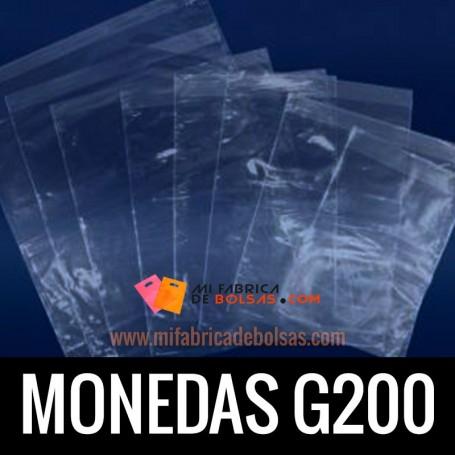 BOLSA TRANSPARENTE MONEDAS G200 15X30