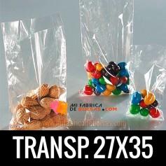 BOLSA TRANSPARENTE 27X35
