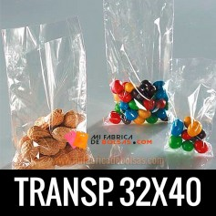 BOLSA TRANSPARENTE 32X40