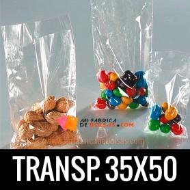 BOLSA TRANSPARENTE 35X50