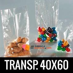 BOLSAS DE PLASTICO TRANSPARENTES POLIETILENO 40X60