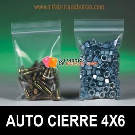 BOLSAS DE PLASTICO TRANSPARENTES CON AUTOCIERRE ZIP 4X6