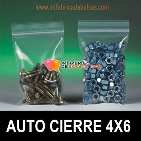BOLSAS DE PLÁSTICO AUTO CIERRE 4x6