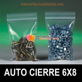 BOLSAS DE PLASTICO TRANSPARENTES CON AUTOCIERRE ZIP 6X8
