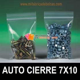 BOLSAS DE PLASTICO TRANSPARENTES CON AUTOCIERRE ZIP 7X10