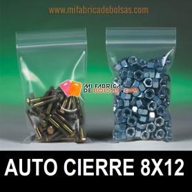 BOLSAS DE PLÁSTICO TRANSPARENTES AUTO CIERRE 8x12