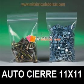 BOLSAS DE PLASTICO TRANSPARENTES CON AUTOCIERRE ZIP 11X11