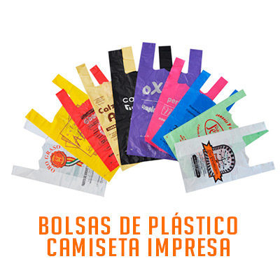 BOLSA DE PLASTICO CAMISETA IMPRESA