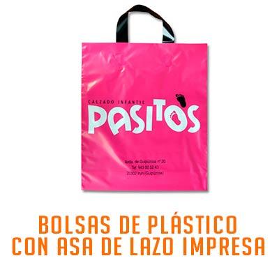 BOLSA PLASTICO ASA DE LAZO IMPRESA